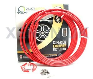 """Alloygator EXCLUSIVE Alloy Wheel Rim Protection SET OF 4x RED 12/"""" Up To 24/"""""""