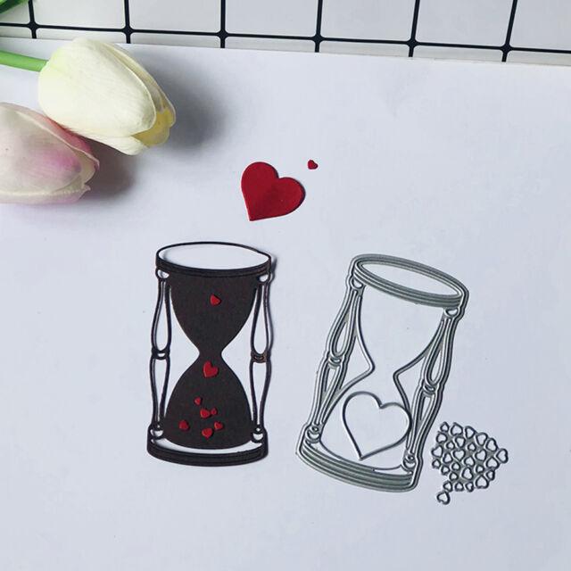 3Pcs Love Hourglass Metal Cutting Dies For DIY Scrapbooking Album Paper Card Pip