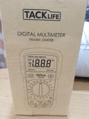 TACKLIFE Multimeter DM03B Electrical Tester 2000 Counts Manual-Ranging Amp Volt
