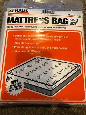 UHaul Brand Comforter Bags 2 Pack Fits Up to King Size Blankets 2.5 Mil Thick