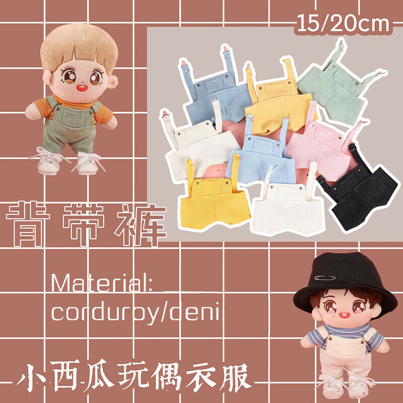 Hand-made Kpop Wanna one Se Hun Doll Clothes Corduroy Denim Rompers Limit Gift N