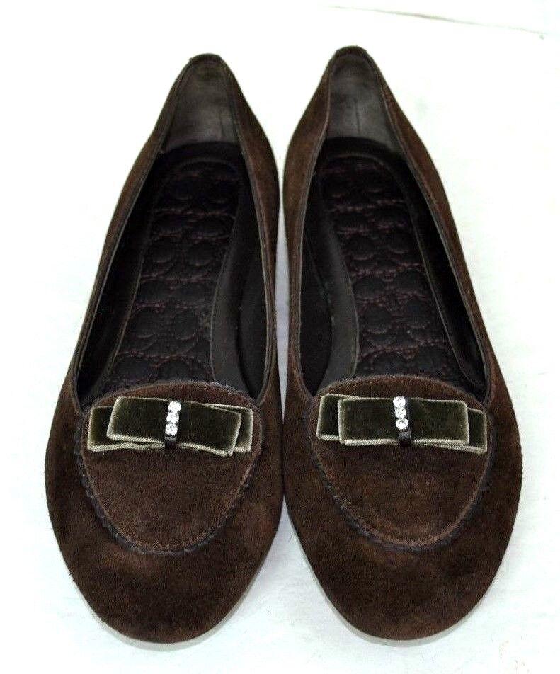 Entrenador De De De Cuero Genuino Marrón Zapatos De Gamuza