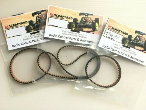 Thunder Tiger TS4N Complete set of three belts 162T 177T and 417T