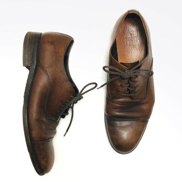 Frye Brown Distressed Leather Oxfords 10 (M)