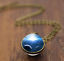 Solar-System-Pendants-Necklace-Galaxy-Planet-Necklace-S-Double-Sided-Glass-Dome thumbnail 20