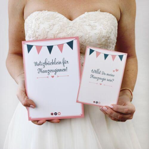 Trauzeugin Planer Mit GRATIS POSTKARTE Hochzeit Notizheft Planungsheft Hochzeit