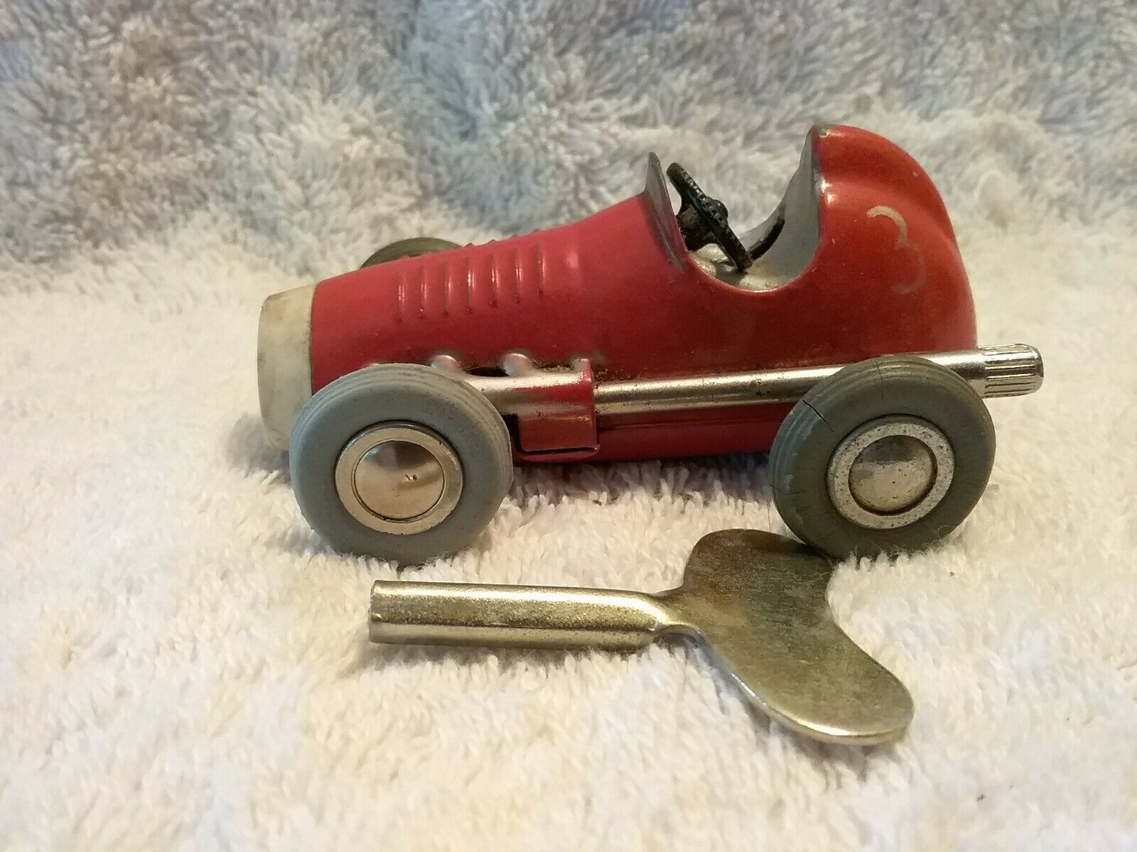 Vintage 1042 Schuco Micro Racer de relojería con llave de repuesto Alemania Occidental