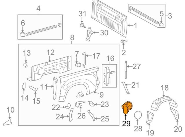 Genuine Toyota 77305-0C050 Fuel Filler Lid Sub-Assembly