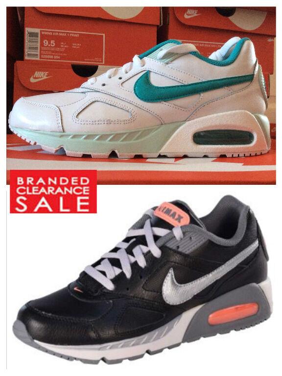 NUOVO Donna Nike Max Air Max Nike IVO Scarpe Da Ginnastica in Pelle Bianco Nero 5 6 7 RRP 48f482