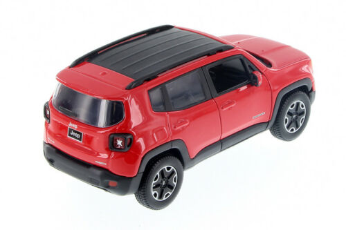 Red 2017 Jeep Renegade 1//24 Scale Diecast Model Car