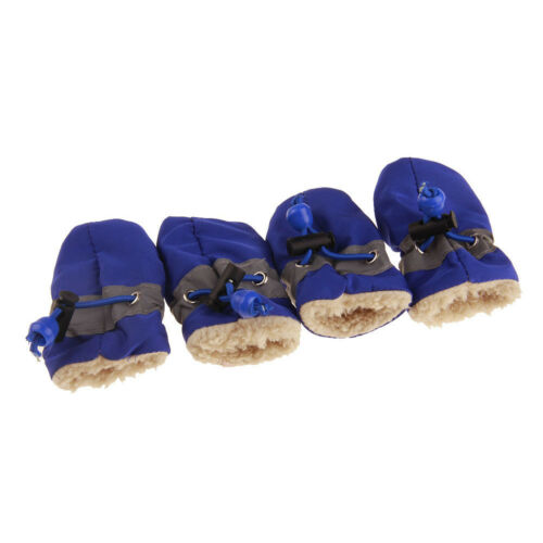 3Sizes Pet Dog Anti-slip Shoes Adjustable Boots Water Resistence Warm Rain Shoes