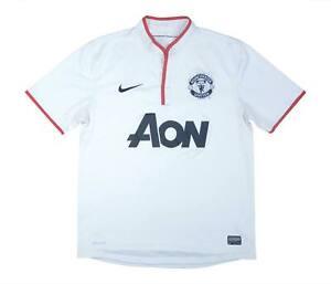 Manchester United 2012-14 ORIGINALE AWAY SHIRT (OTTIMO) M SOCCER JERSEY