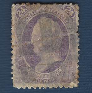 1870-US-STAMP-153-USED-24c-WITHOUT-GRILLE