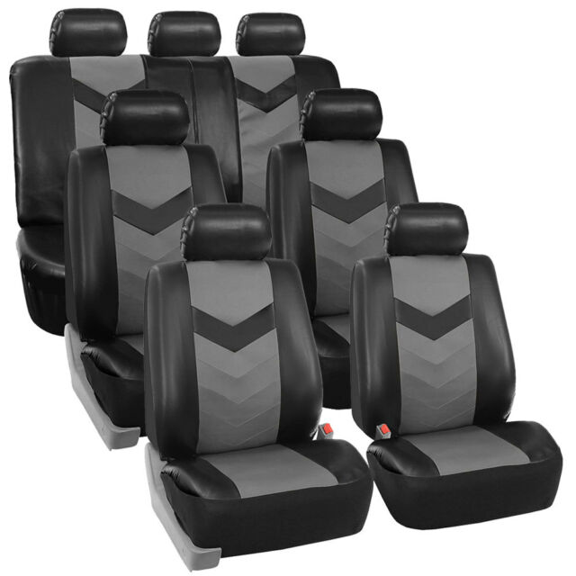 3 Row Car Seat Covers Leather 7 Seater SUV