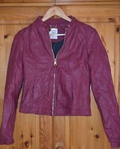 Details zu Alcott Lederjacke Jacke Jacket neu Gr. 40 M rot purple Damen