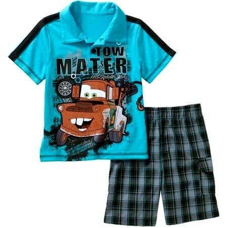 Boys/' 2-Piece Shorts Set  Mickey Mouse Cars Mater Paw Patrol Chase Marshall  NWT