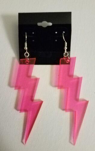 Éclaircissant BOLT-Rose-Acrylique Boucles d/'oreilles.