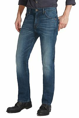 Wrangler Arizona Straight Fit Stretch Jeans New Mens Vintage Faded Green Sky
