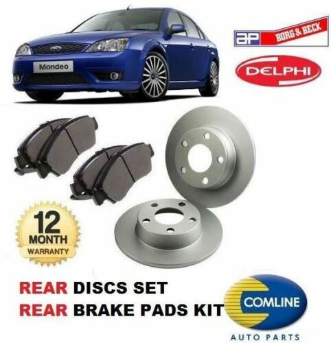 FOR FORD MONDEO 20002007 REAR BRAKE DISCS SET + DISC PADS KIT