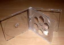 5 CD Hüllen durchsichtig / transparent für 4 CDs oder DVDs Maxi aufklappbar Neu