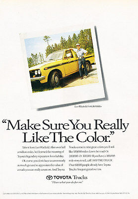 1990 Toyota Trucks Classic Vintage Advertisement Ad D89 Money