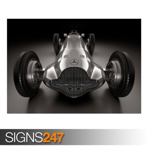 Poster Print Art A0 A1 A2 A3 MERCEDES BENZ W154 CLASSIC CAR POSTER AA905