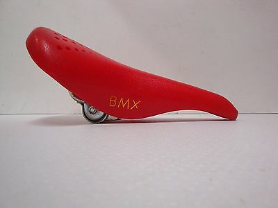 NOS SAN MARCO SADDLE SEAT BMX RED 463gr MADE IN ITALY