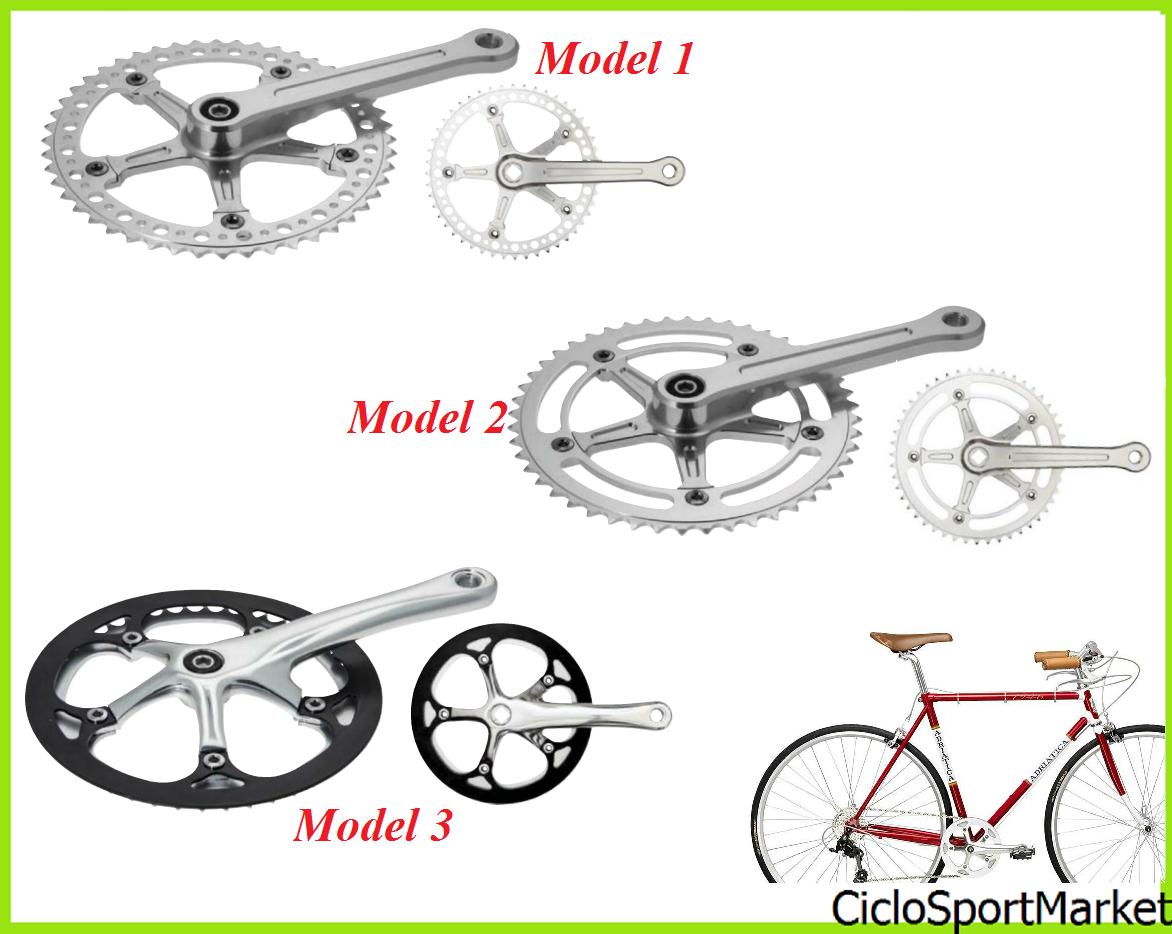 Kurbelgarnitur Fahrrad vintage Retro' Single Geschwindigkeit - 46 Zähne 48 Zähne