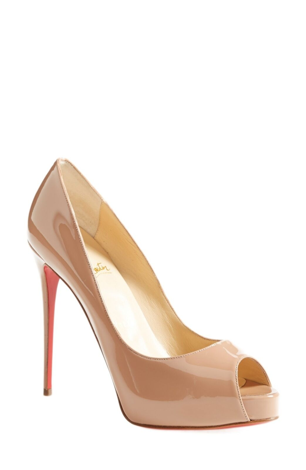 Christian Louboutin Prive Open Open Open Toe Pump Bude Patent Leather 39 Size 8.5 4ec0a1