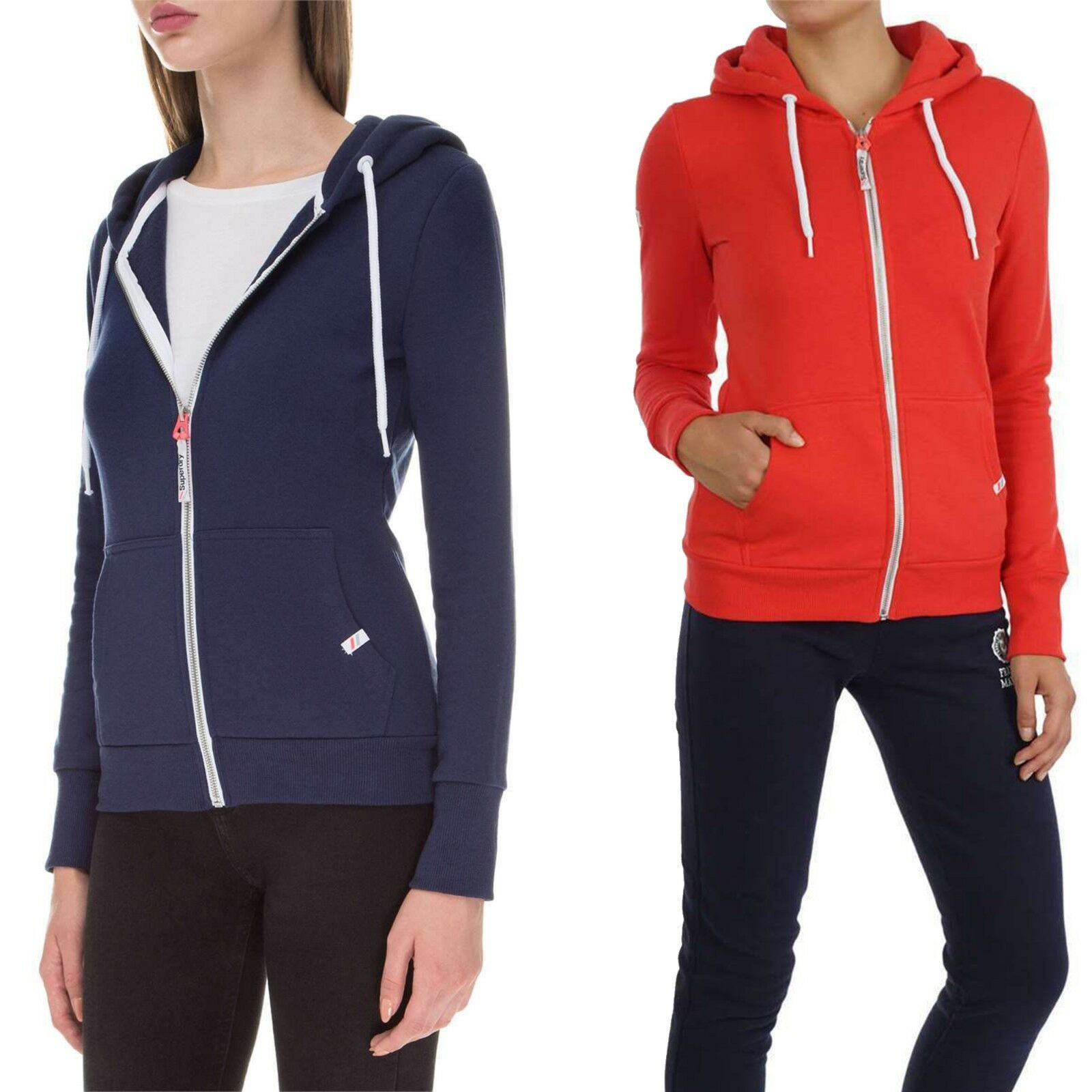 NEW Superdry Women's Sporty LA Athletic Full Zip Long Sleeve Hoodie