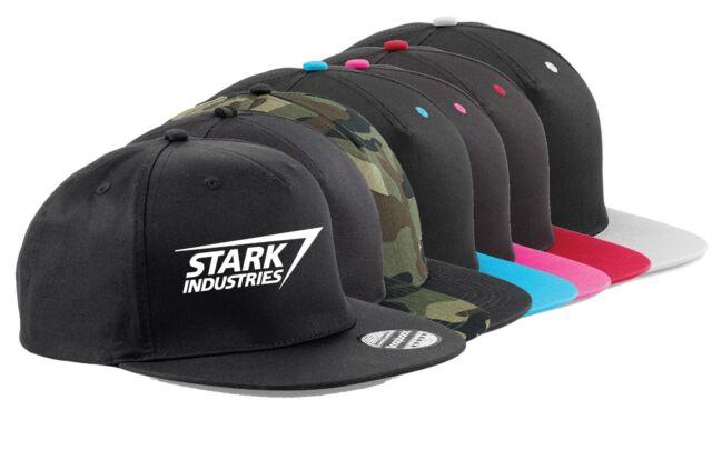 3ca1ea63a SNAPBACK HAT CAP Stark Industries Iron Man Tony Marvel Hulk Captain America