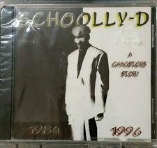 SCHOOLLY D - A GANGSTER'S STORY U.S. CD 1996 10 TRACKS SATURDAY NIGHT
