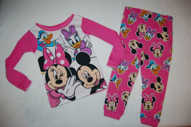 New Disney Minnie Mouse toddler girls pajamas 2T 3T 4T 5T Minnie Mouse pajamas