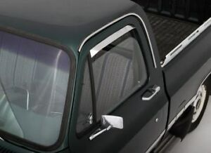 Auto-Ventshade-12068-Ventshade-Stainless-2Pc-80-96-Ford-Bronco-F150-F250-F350