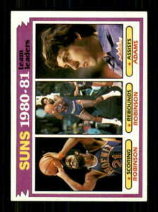 1981-82 Topps #60 Leonard Robinson/Alvan Adams NM/NM+ Suns TL 520970
