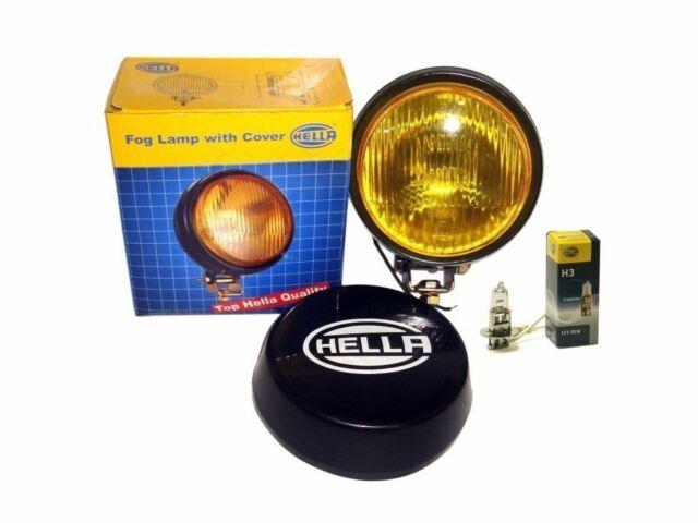 Hella Round Nebelscheinwerfer Gelb Glas + Abdeckung ohne H3 12V 55 Glühlampe