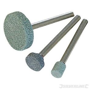 Silverline-868811-Rotary-Tool-Grinding-Stone-Set-3pce5-9-20mm-Dia