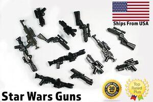 Lego-Star-Wars-Waffen-Clone-Storm-Trooper-Blaster-Lot-x10-randomisierten-Waffen