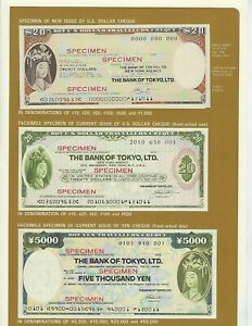 JAPAN-BANK-OF-TOKYO-SPECIMEN-20-TRAVELERS-CHECK-IN-LARGE-INSTRUCTION-FOLDER