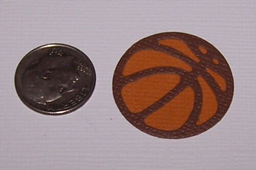 Scrapbook /& Card Making 6 Basketballs Premade PAPER Die Cuts