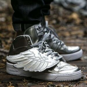 online store a1950 1c486 Image is loading ADIDAS-JS-WINGS-METAL-METALLIC-SILVER-JEREMY-SCOTT-