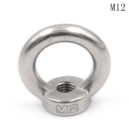 M8 M12 304 Edelstahl Augen Ring Mutter Form Muttern 4H M10 M5 M6