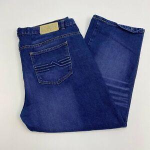 Revolve-Denim-Jeans-Mens-40X32-Blue-Straight-Leg-Regular-Fit-Cotton-Medium-Wash