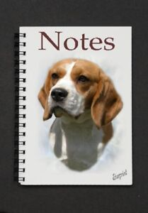 Beagle-Dog-Notebook-Notepad-with-small-image-on-every-page-by-Starprint