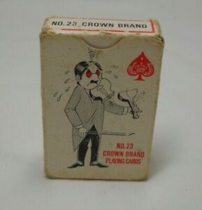 Vtg-Miniature-Deck-No-23-Crown-Brand-Playing-Cards-made-in-Hong-Kong