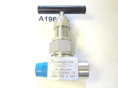 Material : 316 Stainless Inlet : 1//2 Male : NPT Swagelok SS-6HNRM8-F8 Severe Service Union Bonnet Needle Valve Outlet : 1//2 Female : NPT Maximum Pressure : 10,000 psi