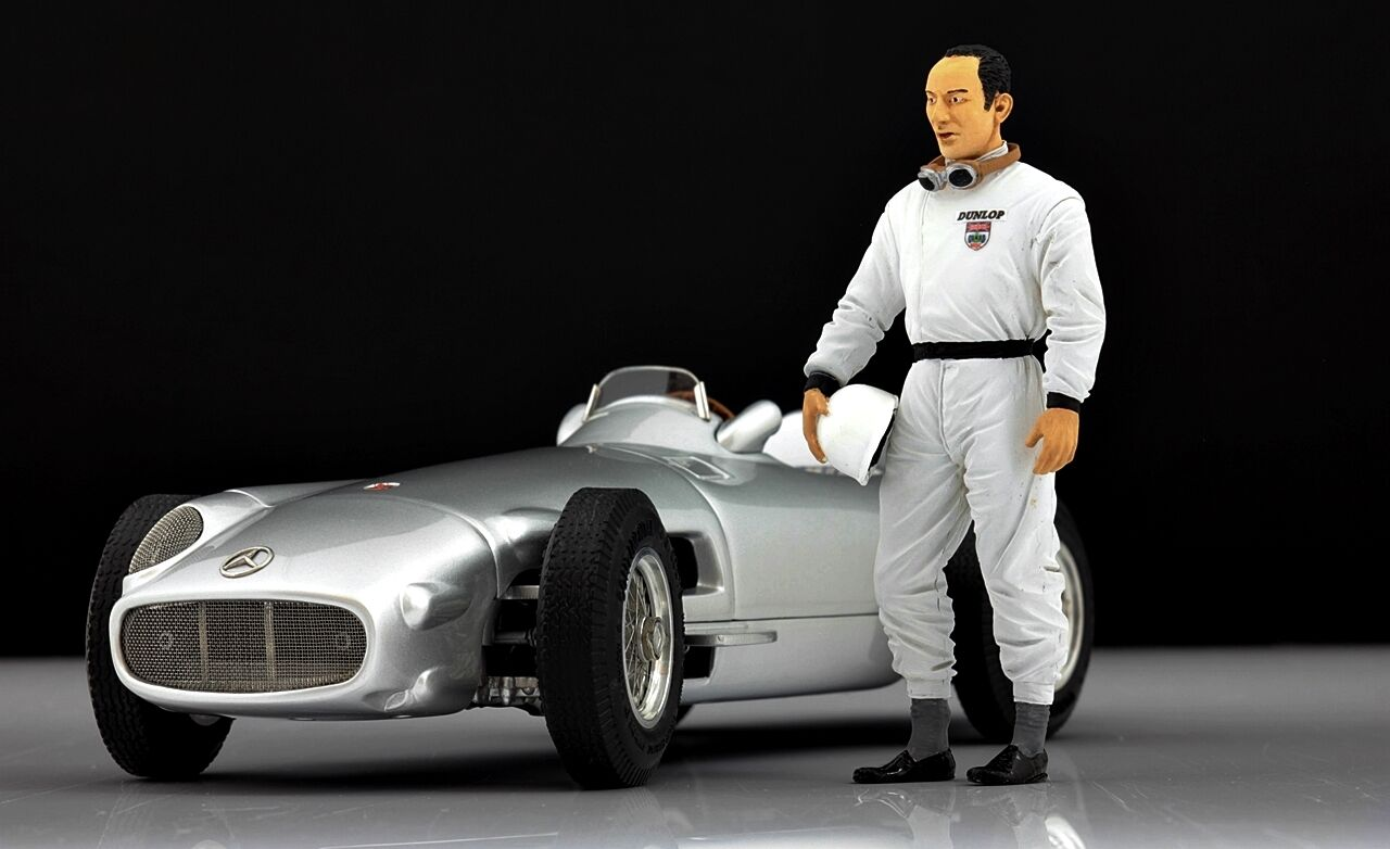 Stirling MOSS (2) Figure pour 1 18 Mercedes W196 CMC