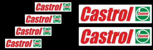 6 Castrol oil Sponsor stickers classic Old Style race rally decals bike car