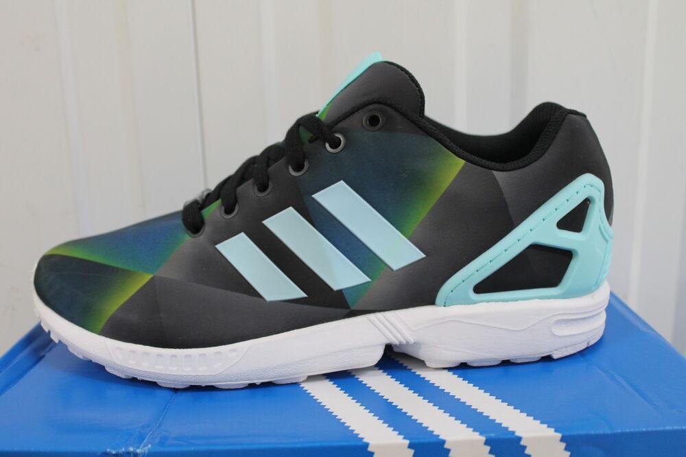 Hommes, S Adidas Zx Flux Aqua multicolore fonctionnement B34516 Entièrement neuf dans sa boîte 25-