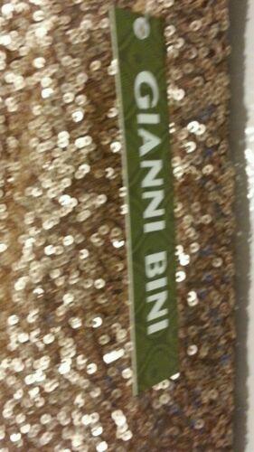 822992367530 Gianni tono oro 109 Bini Nwt Msrp piccolo paillettes 6 con gonna ricamate Mini New 64dq6